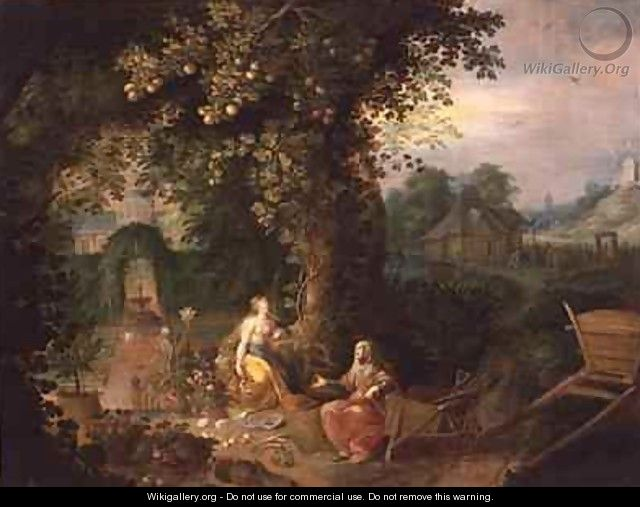Vertumnus and Pomona - Frans the younger Francken