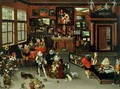 Archduke Albert 1559 c 1621 and Archduchess Isabella 1566-1633 Visiting a Collectors Cabinet - H. II & Brueghel, Jan I Francken