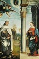 The Annunciation with St Albert the Carmelite - Francesco Francia