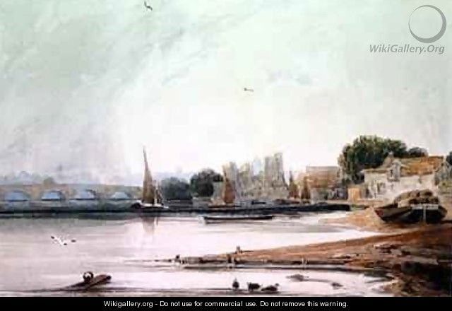 Lambeth Palace and Westminster Bridge - Francois Louis Thomas Francia