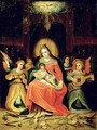 The Virgin Mary with Child and Music playing Angels - (after) Frans II the Younger