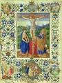 The Crucifixion surrounded by six medallions depicting six episodes from the Passion of Christ - d'Antonio del Chierico (or Cherico) Francesco
