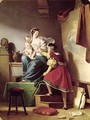 Raphael Adjusting his Models Pose for his Painting of the Virgin and Child - Alexandre Evariste Fragonard