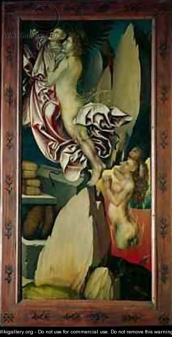 Bugnon altarpiece left hand panel depicting the deliverance of a soul from purgatory - Hans Fries