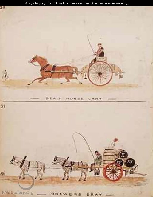 The Dead Horse Cart and the Brewers Dray - William Francis Freelove
