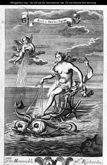 Venus Riding her Chariot Drawn by Dolphins - G Freman