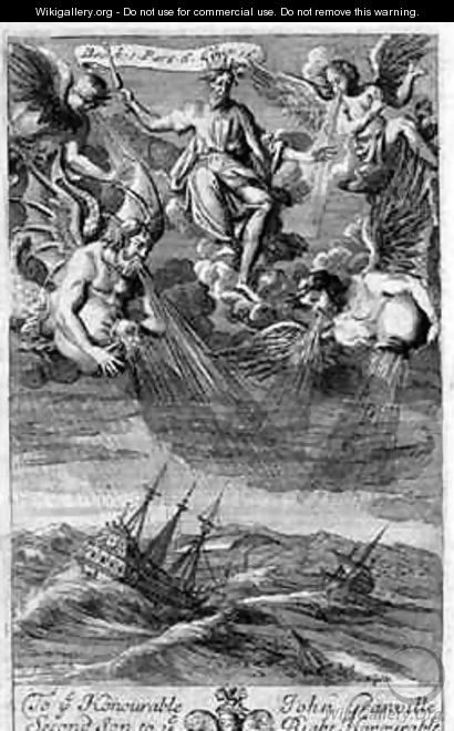 Jupiter Casts a Storm Upon the Ocean - G Freman