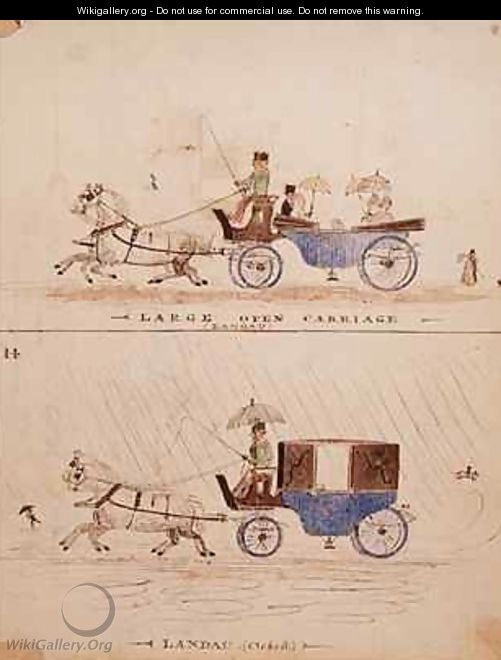 The Large Open Carriage and the Landau - William Francis Freelove