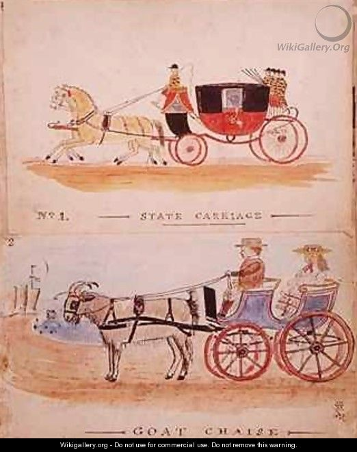 The state carriage and the goat chaise william francis for Chaise carriage