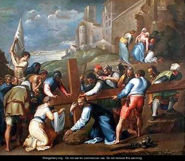 Christ on the Road to Calvary - Battista Franco