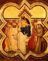 The Trial by Fire St Francis offers to walk through fire to convert the Sultan of Egypt in 1219 - Taddeo Gaddi