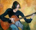 Nina Hamnett 1890-1956 with Guitar - Roger Eliot Fry