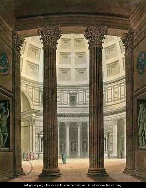 Interior of the Pantheon Rome - (after) Fumagalli