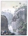 Explorers with Humboldts Expedition in the Basalt Cliffs at Regla Mexico - Gerolamo Fumagalli
