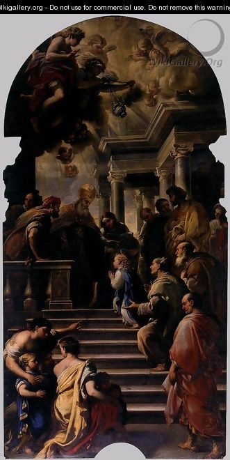 Presentation of Mary at the Temple - Luca Giordano