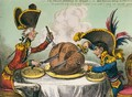 The Plum-Pudding in Danger 3 - James Gillray