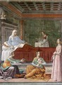 Birth of St John the Baptist (detail) - Domenico Ghirlandaio