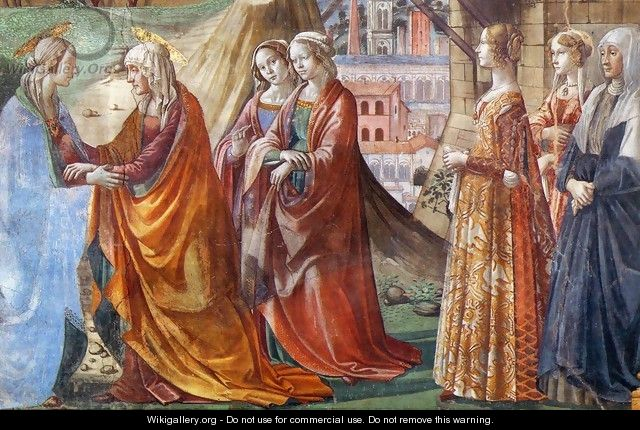 Visitation (detail) - Domenico Ghirlandaio