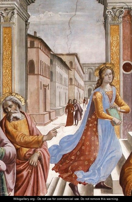 Presentation of the Virgin at the Temple (detail) 2 - Domenico Ghirlandaio