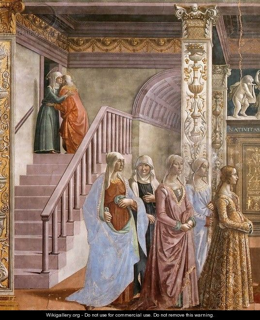 Birth of Mary (detail) 2 - Domenico Ghirlandaio