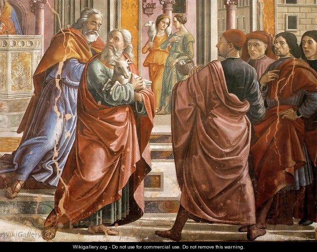 Expulsion of Joachim from the Temple (detail) - Domenico Ghirlandaio