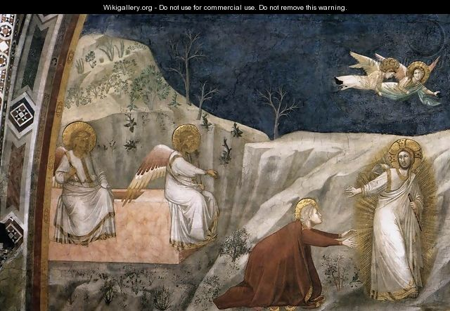 Scenes from the Life of Mary Magdalene Noli me tangere - Giotto Di Bondone