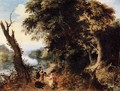 Landscape with Diana Receiving the Head of a Boar - Abraham Govaerts