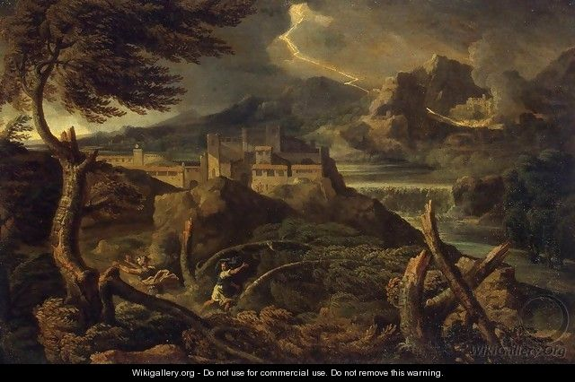 Landscape with Lightning - Gaspard Dughet