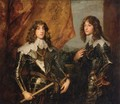 Portrait of the Princes Palatine Charles-Louis I and his Brother Robert - Sir Anthony Van Dyck