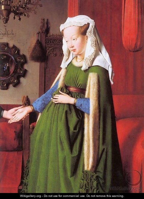 Portrait of Giovanni Arnolfini and his Wife (detail) - Jan Van Eyck