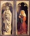 The Ghent Altarpiece St John the Evangelist and the Donor's Wife - Jan Van Eyck