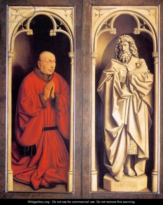The Ghent Altarpiece Donor and St John the Baptist - Jan Van Eyck