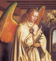 The Ghent Altarpiece Angel of the Annunciation (detail) - Jan Van Eyck