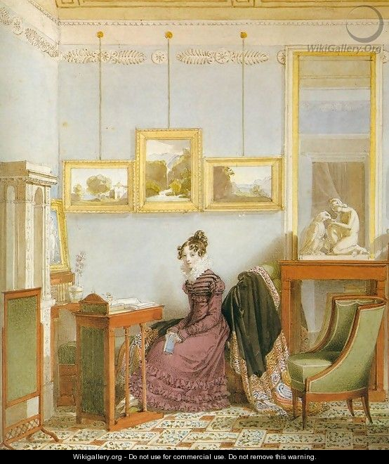 Woman at her Writing Desk - Johann-Nepomuk Ender