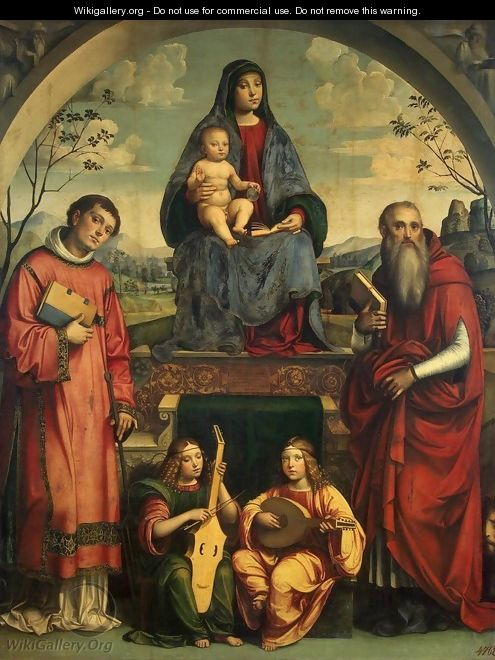 Madonna and Child with Sts Lawrence and Jerome - Francesco Francia