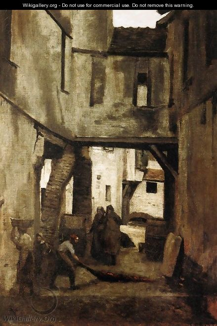 The Tanneries of Mantes - Jean-Baptiste-Camille Corot