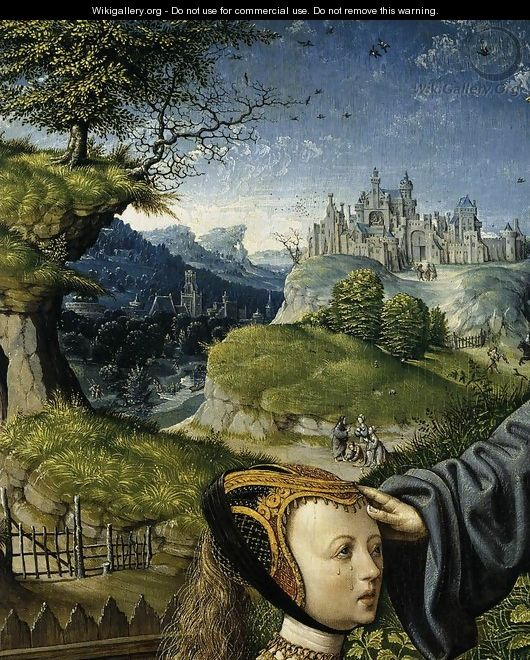 Christ Appearing to Mary Magdalen as a Gardener (detail) 2 - Jacob Cornelisz Van Oostsanen