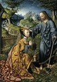 Christ Appearing to Mary Magdalen as a Gardener 2 - Jacob Cornelisz Van Oostsanen