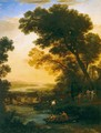 Ideal Landscape with the Flight into Egypt - Claude Lorrain (Gellee)