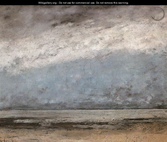 Beach near Trouville - Gustave Courbet