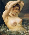 The Woman in the Waves 2 - Gustave Courbet