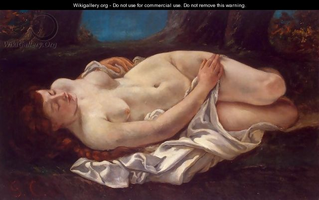 Reclining Woman - Gustave Courbet