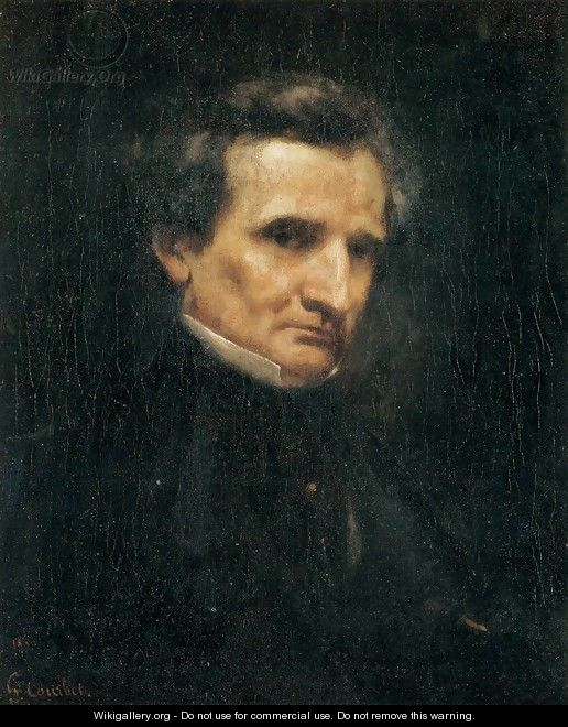 Portrait of Hector Berlioz - Gustave Courbet