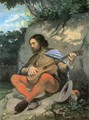 Young Man in a Landscape (The Guitarrero) - Gustave Courbet