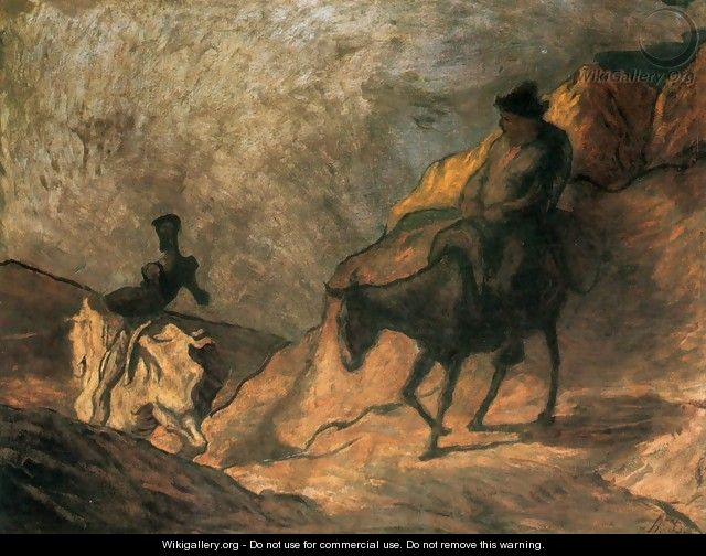 Don Quixote and Sancho Panza 3 - Honoré Daumier