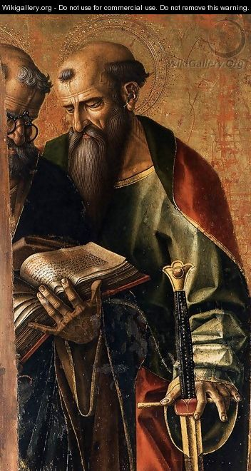 St Peter and St Paul (detail) - Carlo Crivelli