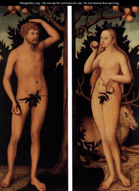 Adam and Eve - Lucas The Younger Cranach