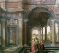 Palace Courtyard with Figures 2 - Dirck Van Delen