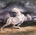 Horse Frightened by a Storm - Eugene Delacroix