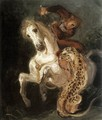 Jaguar Attacking a Horseman - Eugene Delacroix